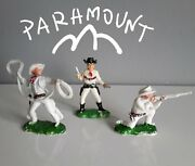 Vintage Cowboys, All 3 Poses, Toy Soldiers By Paramount 1950's Years