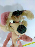 Vtg Wile E Coyote 21 Posable Plush Toy Warner Bros. 1971 W/ Tags Mighty Star
