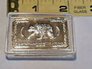 One Troy Ounce 24k Gold Plated Bar Bear And Eagle Ships Free