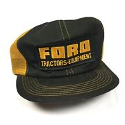Vintage Ford Tractors Equipment Snapback Trucker Hat Cap 70s 80s K Products Nice