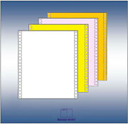 9.5x11 Blank Carbonless Computer Paper Landr Perf White/canary/pink/goldenrod