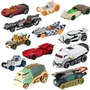 Mattel Hot Wheels Star Wars Toys Characters Cars Set Of 12 Toy Brand New Sealed