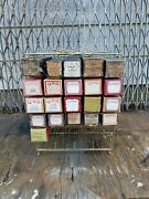 Vintage 21 Player Piano Rolls And Music Holder Racks Caddy Display Antique Used
