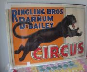 Vintage Rare Early Around 1916 Ringling Barnum And Bailey Circus Poster