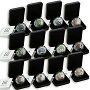 Lebanon 5 Livres Set Of 12 Coins Zodiac Signs Colored Proof Silver Coin 2013