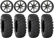 Sti Hd10 20 Wheels Smoke 35 Xtr370 Tires Polaris Ranger Xp 9/1k