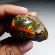 383 Cts Natural Aaa+welo Play Fire Ethiopian Opal Rough Specimen52x45x29mmt91