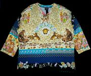 Versace Jeans Couture Sweatshirt Free Fit Sweater Cat Floral Baroque Unisex