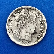 1906 O Barber Silver Dime .10 Better Rare Scarce Key New Orleans Mint Coin