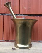 Antique Brass Mortar And Pestle H-18 Cm Russian Imperial 1882-1896