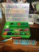Colorful Rainbow Rubber Loom Bands Bracelet Diy Kit In Carrying Case