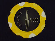 Fountainebleau Casino 1000 Chance Hotel Gaming Poker Chip Las Vegas Nv D2199