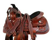 Used Trail Saddle 16 15 Pleasure Horse Western Floral Tooled Leather Package