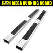 78 Mega Running Boards For 2019-2021 Chevy Silverado 1500 Extended Cab 6 Pad
