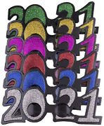 6 Pack Of 2021 New Years Eve Party Glasses Classic Glitter
