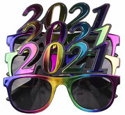 3 Pack Of 2021 New Years Eve Party Glasses Multi Metallic