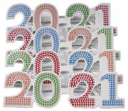 4 Pack Of 2021 New Years Eve Party Glasses Multi Bling
