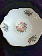 L👀k Aynsley Rose Garden Scalloped Berry Bowl Fine Bone China Made In England 5