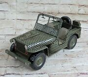 Classic 4x4s The Willys Jeep Army Vintage Detailed Handcrafted Artwork Hot Cast