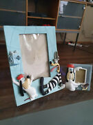 Extremely Rare Droopy With Tex Avery Demons Merveilles Photo Frame Statue Set