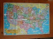 Rare 1981 Original Mad Magazine Double Sided Pictorial Map Of The United States
