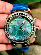 Android Menand039s New Virtuoso Tungsten Swiss Valjoux 7750 Automatic 4ctw Topaz Mop