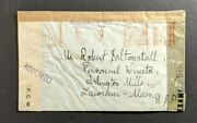 1944 Bombay India Dual Censored Cover To Lawrence Ma Usa Received Damaged