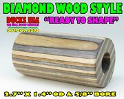 Diamond Wood Style Duck Call Barrel Natural, Honey And Silv 2.7 X 1.4 Od And 5/8