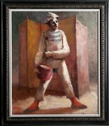 Philippe Alfieri Clown And Drum Ii Oil On Canvas Signed L.l