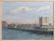 Paly View From Manhattan Cityscape Oil On Canvas
