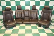 09-10 F150 Crew Platinum Brown Leather Heated Cooled Power Buckets Seat Set Oem