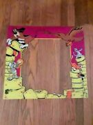 Vintage 24 X22 Mouse Trap Exidy Monitor Glass Bezel Arcade Video Game Atari 1981