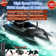 Rc Bait Boat Speed Cruise Remote Control Fish Finder 1.5kg 500m Dual Night Light