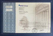 Nyse Group Commemorative Stock Certificate + Merger History Tree + Ceo Letter