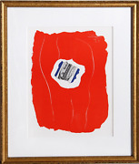 Robert Motherwell, Tricolor 137, Offset Lithograph, Signed In The Plate