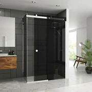 Merlyn 10 Series Sliding Shower Door 1200-1400mm Wide Left Or Right Smoked Black