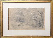 Alfred Robaut, Forest, Charcoal And Pastel On Paper, Labelled Verso