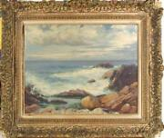 Abraham Rosenthal New England Seascape Oil On Canvas Board Signed