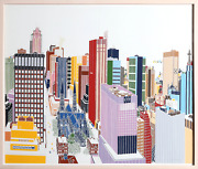 Mori Shizume New York Skyline 5-6 Screenprint Signed And Numbered In Pencil