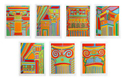 Clayton Pond Capital Ideas Suite Of 7 Seven Screenprints Each Signed And Num