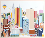 Mori Shizume New York Skyline 3-4 Screenprint Signed And Numbered In Pencil