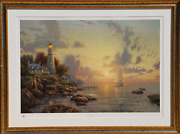 Thomas Kinkade The Sea Of Tranquility Offset Lithograph Signed And Numbered I