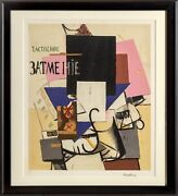 Kazimir Malevich Composition With The Mona Lisa 1914 Lithograph Facsimile Si