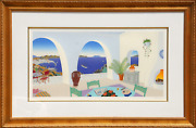 Thomas Mcknight, Troulos Bay, Mykonos, Screenprint, Signed And Numbered In Penci