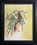 Wifredo Lam, El Casquee She With Helmet From The Pleni Luna Suite, Lithograph,