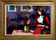 Donald Roy Purdy Lady In Red Oil On Masonite Signed L.r.