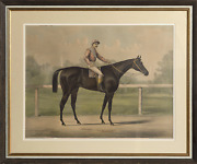 Currier And Ives, Jockey On A Horse, Hand-colored Lithograph
