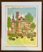 Susan Pear Meisel, Victorian House, Lithograph, Signed And Numbered In Pencil