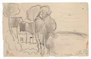 Oscar Florianus Bluemner Nutley New Jersey Graphite On Paper Signed With The