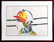 Peter Max The Jockey Lithograph On Arches Paper Signed And Numbered In Pencil